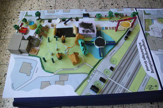 Die Kinder durften im Frühling 2015 ihre Wünsche in die Planung des Pausenplatzes einbringen.
