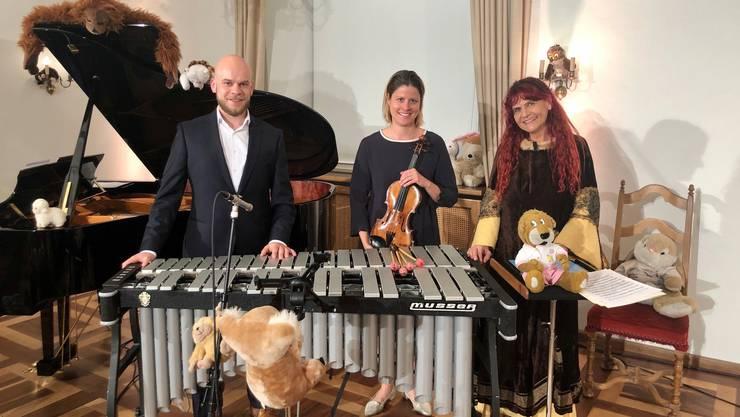 Jolanda Steiner (rechts) und ihre Crew werden in der Alten Kirche Boswil das Märchen «Tredeschin» zur Aufführung bringen.