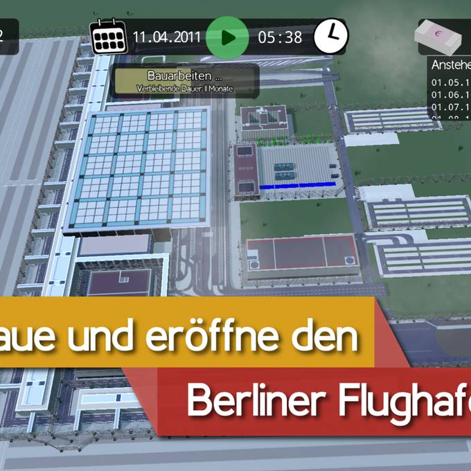 BER Bausimulator: Werde Bauleiter des Berliner Chaos-Flughafens