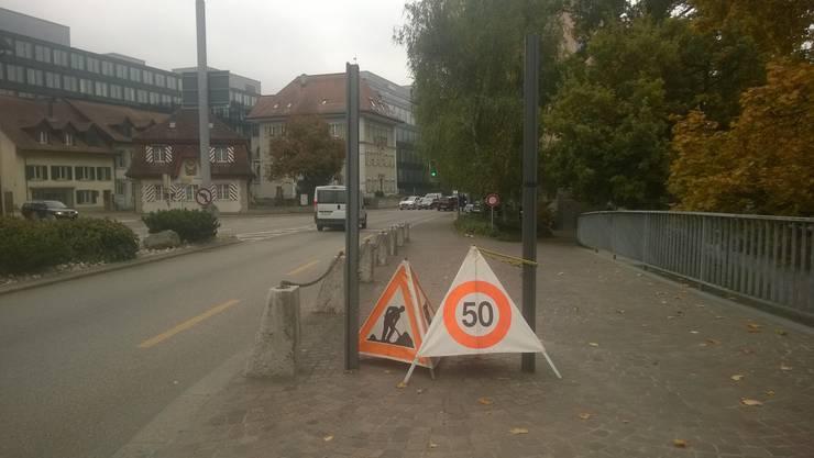 Baustelle: Standort der einstigen Reklametafel am Postplatz.