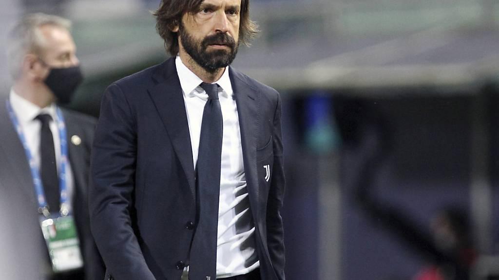 Andrea Pirlo ist nicht begeistert, aber für die Champions-League-Teilnahme hat es Juventus gereicht