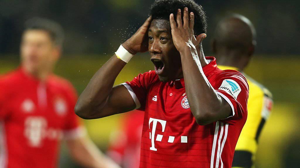 David Alaba kanns nicht fassen: Bayern München verliert