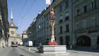 """Posten Nummer 7 der Altstadt-Tour im Kinderbuch """"Berns verborgene Geschichten"""": Der Ritter auf dem Zähringerbrunnen, der kein richtiger Ritter ist. (Archivbild)"""