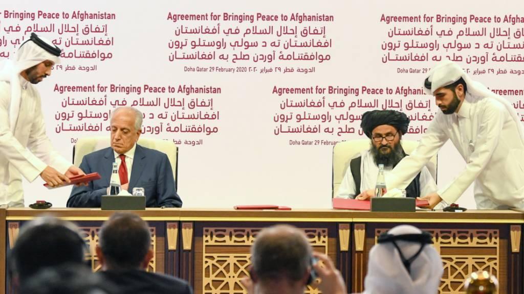 USA und Taliban unterzeichnen historisches Abkommen