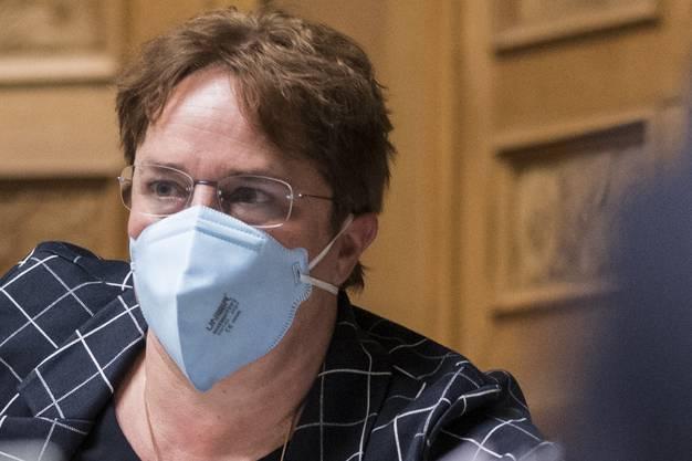 Magdalena Martullo-Blocher trug bereits am 3. März an der Session eine Maske im Parlament. Damals erntete sie dafür noch viel Hohn und Spott.