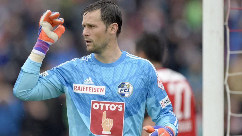 FC Luzern-Goalie David Zibung beendet seine Karriere: Vorher will er aber unbedingt noch den Kübel in den Händen halten (Archiv).
