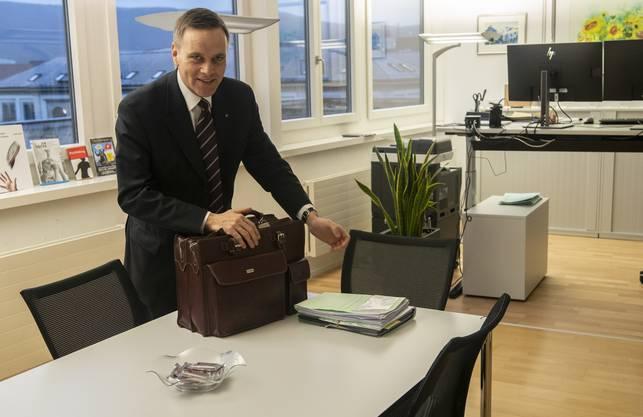 Jean-Pierre Gallati in seinem Büro im Departement für Gesundheit und Soziales.