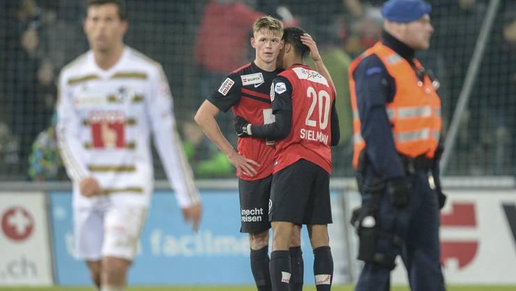 Untröstlich: Aarau liefert nahezu das beste Spiel seit Saisonbeginn ab - und wird dafür mit einer knappen Niederlage belohnt.