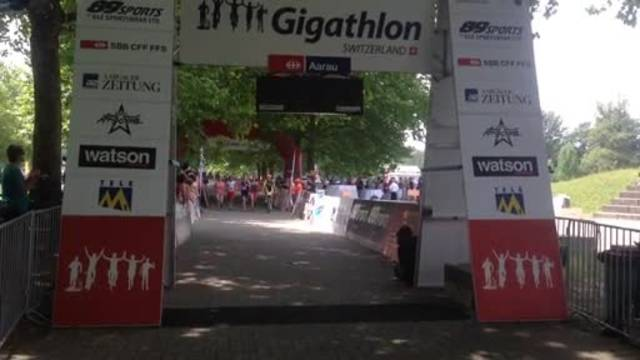 Team aargauersport.ch beim Zieleinlauf – Rang 3!