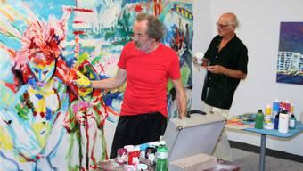 Gianni Vasari (links) und Markus Waber kommen sich nicht in die Quere.