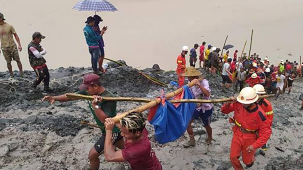 Minen-Unglück in Myanmar: Opferzahl steigt auf 166