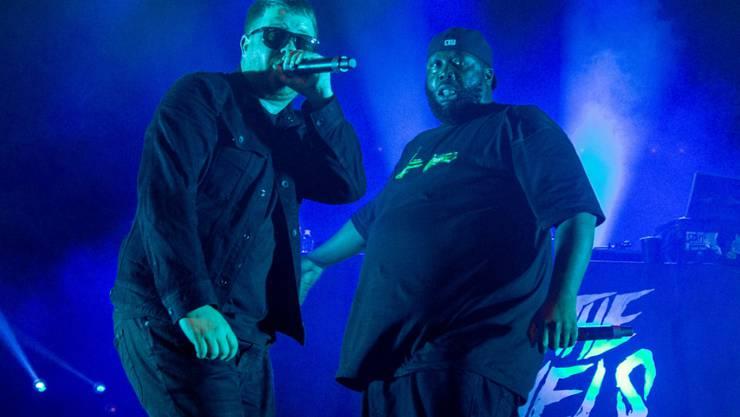 ARCHIV - Die Musiker der Hip-Hop-Band Run The Jewels, El-P (Jaime Meline, l) und Killer Mike (Michael Render) im Orpheum Theater. Foto: Daniel Deslover/ZUMA Wire/dpa