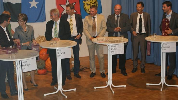 Podiumsdiskussion in Spreitenbach: Wettstreit der Kandidierenden und der Ideen. NRO