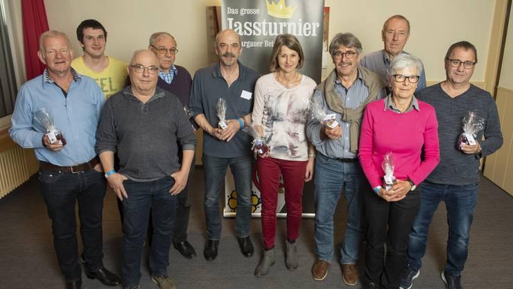 AZ-Jassturnier: Die Siegerinnen und Sieger der zweiten Quali-Runde im Restaurant Stalden in Berikon.