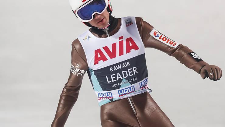 Kamil Stoch, der Olympiasieger auf der Grossschanze von Pyeongchang, war auch in Lillehammer eine Klasse für sich