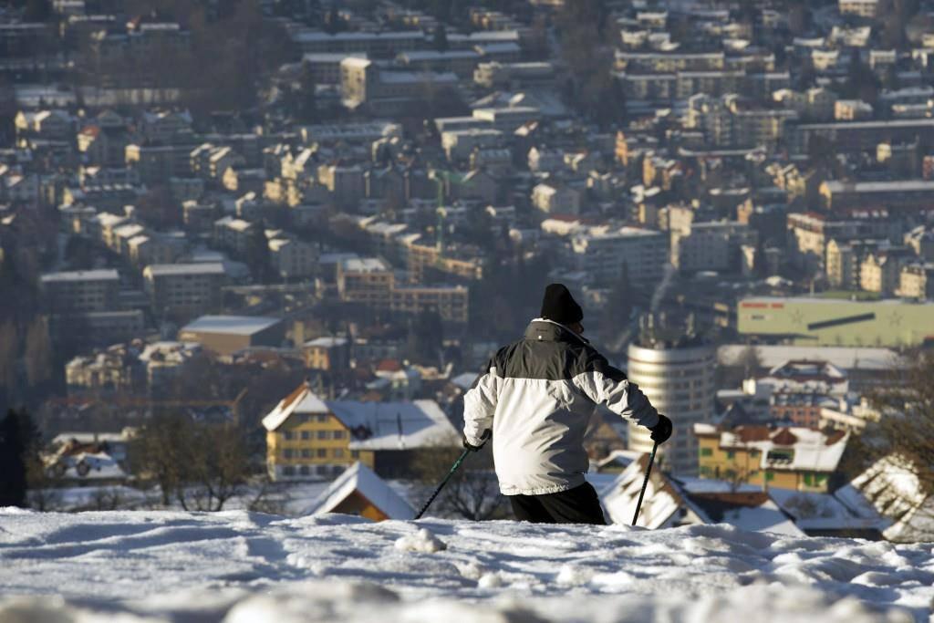 Skiabfahrt von der Vögelinsegg (© Tagblatt)