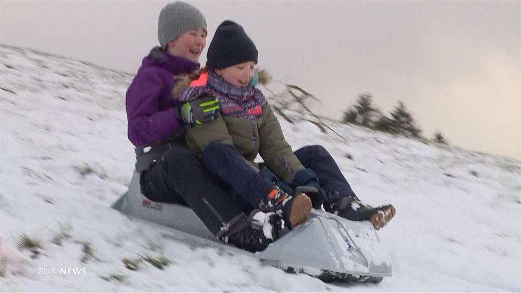 Später Wintereinbruch: Zürich erlebt ersten Schnee dieses Jahr