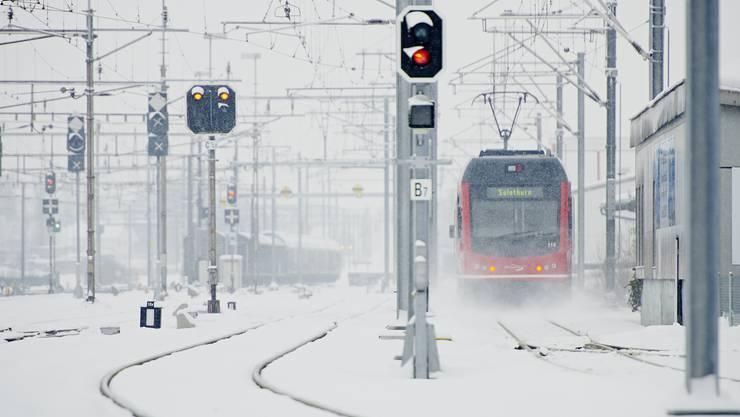 Das «Bipperlisi» im Schnee unterwegs.