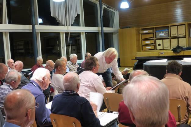Zu Besuch bei einer Probe des Männerchors Schlieren