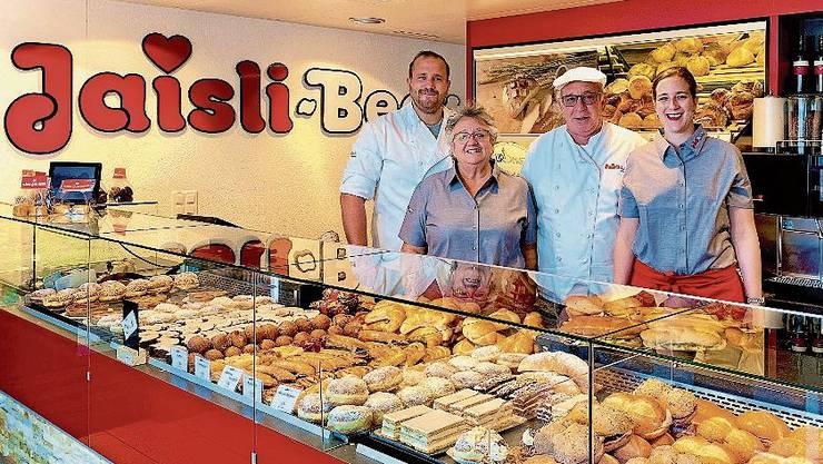 v.l.: Marc, Heidi und Beat Jaisli sowie Sandra Meier-Jaisli.