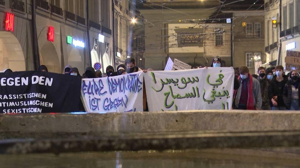 Nach «JA» zum Verhüllungsverbot: Demonstration in Bern