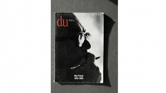 Max-Frisch-Denkmal: Die «Du»-Ausgabe vom Dezember 1991 zum Tod des Schriftstellers. Foto: Kenneth Nars