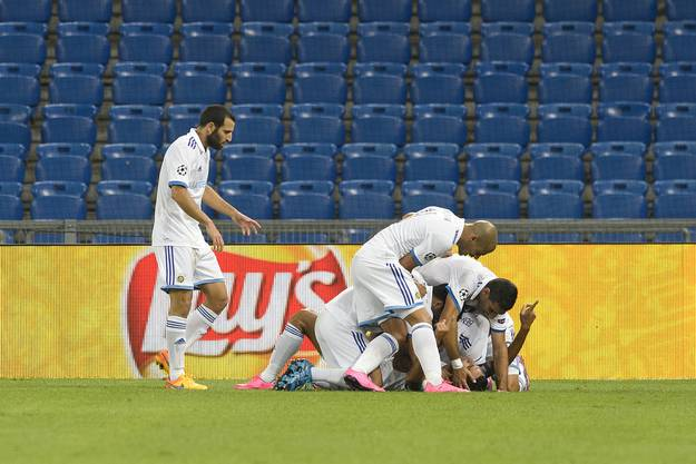 Maccabi bejubelt seinen Ausgleich.