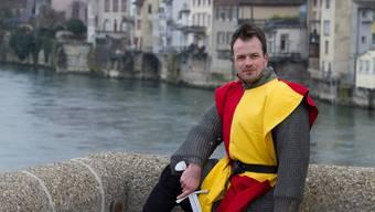 Roland Graf als Graf Rudolf von Rheinfelden: Im Juni und im September nimmt er Gäste mit auf eine szenische Stadtführung. zvg