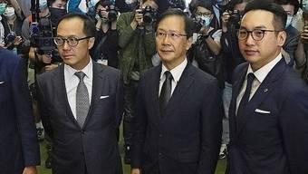 Zurückgetretene Hongkonger Abgeordnete.