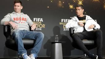 Viermal Messi (links), dreimal Ronaldo machten in den letzten Jahren den Ballon d'Or unter sich aus. Nur Zufall oder steckt mehr dahinter?