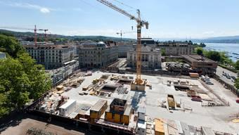 Beim Bau des Parkhaus Opéra in Zürich fanden 2011 auch archäologische Ausgrabungen statt.
