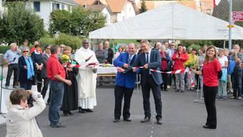 Segnung und offizielle Übergabe der Gallishofstrasse in Aeschi