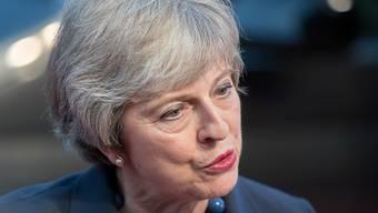 """""""Keine Verzögerungen bei den Brexit-Verhandlungen"""": die britische Regierungschefin Theresa May am EU-Gipfel in Salzburg."""