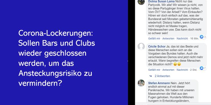 Kommentare auf der Facebook-Seite der Aargauer Zeitung.
