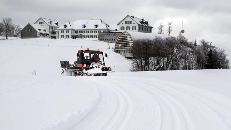 Darauf warten die Sportler am Weissenstein: Vor knapp einem Jahr, am 15. Januar 2016, hatte es genügend Schnee.