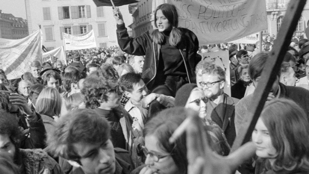 Kämpferische Stimmung auf dem Bundesplatz. (Archivbild)