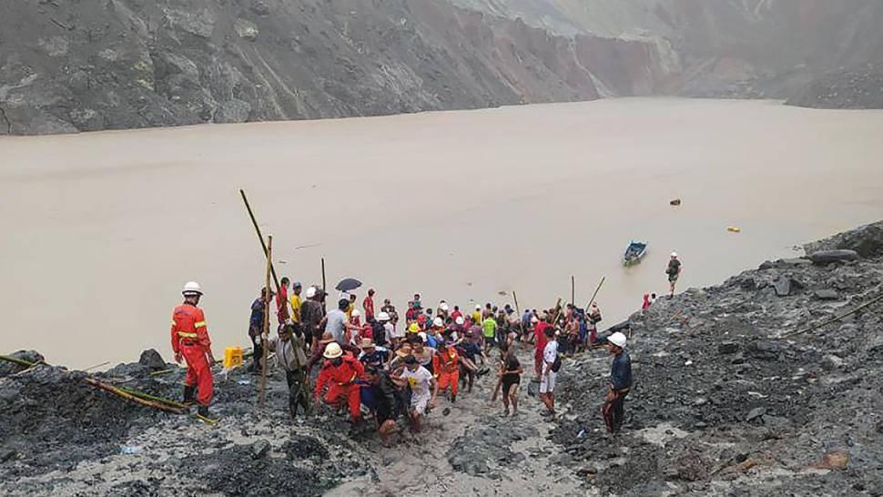Über hundert Menschen bei Minen-Erdrutsch getötet