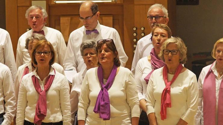 Sängerinnen und Sänger des Ad hoc-Chors Urdorf am Kirchenkonzert der Stadtmusik Dietikon vom vergangenen November (Bild: Christian Murer)