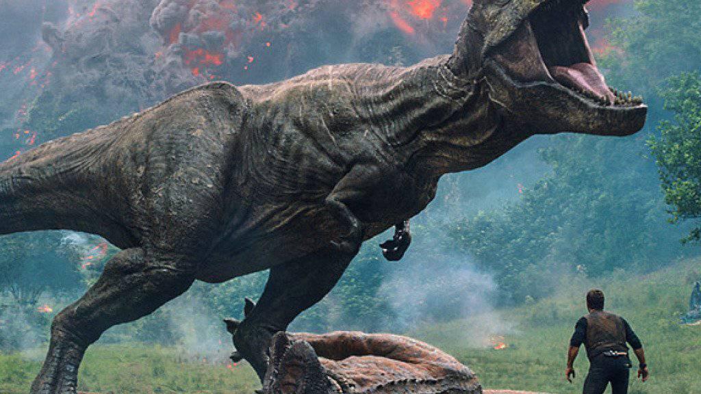 «Jurassic World: Fallen Kingdom» hat am Wochenende vom 7. bis 10. Juni 2018 am meisten Filmfans in die Schweizer Kinos gelockt. (Archiv)