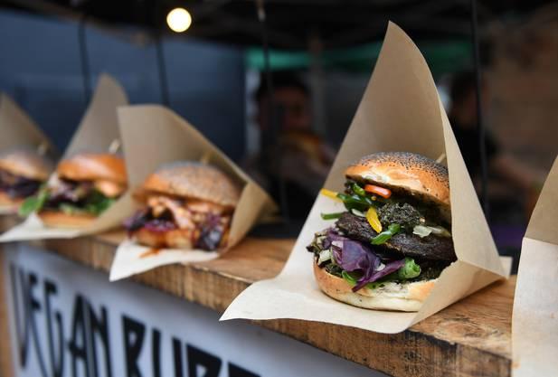 Auch das gibt es jetzt in der Stadt der Märkte: Vegane Burger im Borough Market.