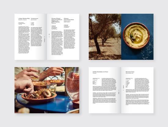 Einige Seiten des Kochbuches sind schon fast fertig.