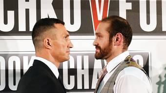 Wladimir Klitschko und Herausforderer àTyson Fury
