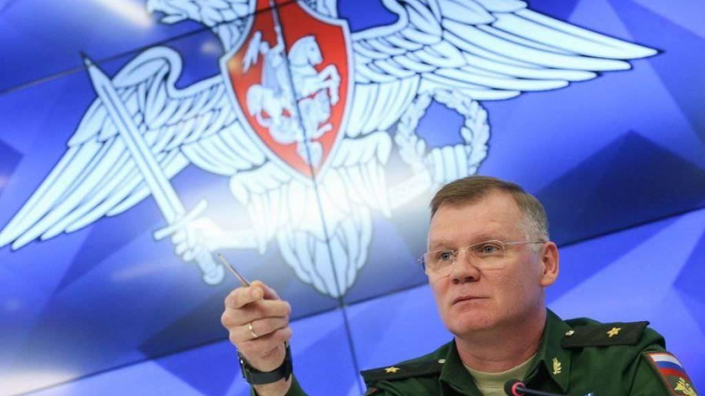 Der Sprecher des russischen Verteidigungsministeriums, General Igor Konaschenkow, machte Israel für den Fehltreffer verantwortlich.