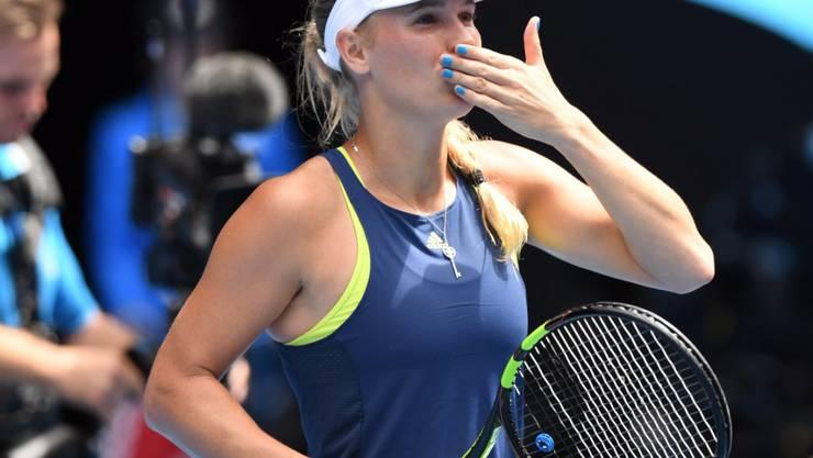 Caroline Wozniacki hat am Australian Open in Melbourne den Tritt wieder gefunden