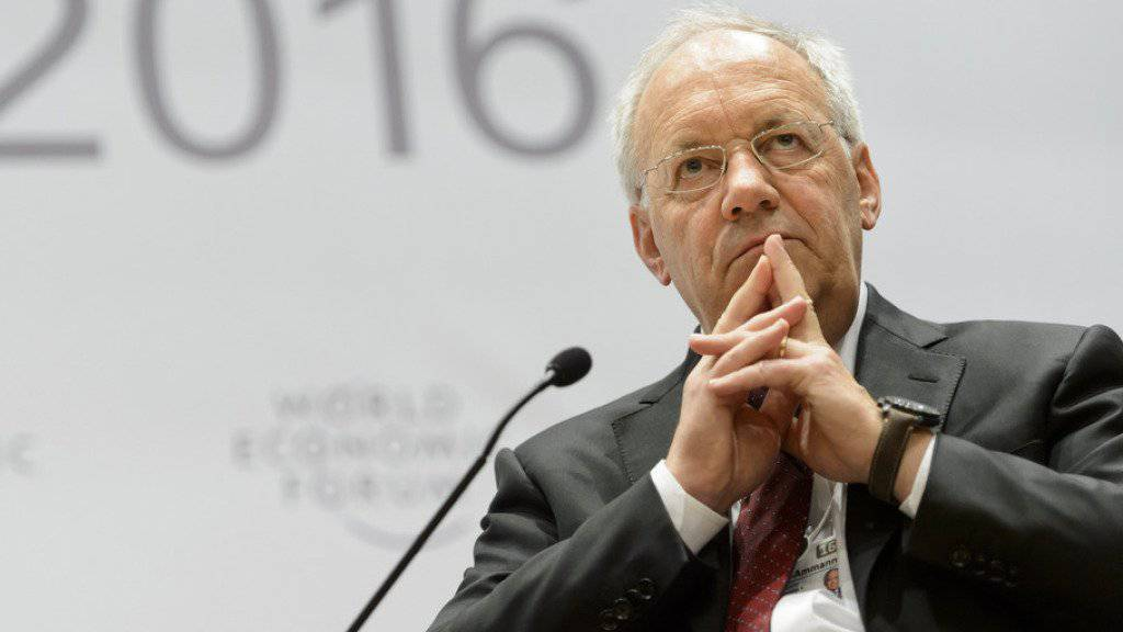 Zeigt vollen Einsatz für ein gutes Nachbarschaftsverhältnis zur EU: Johann Schneider-Ammann am diesjährigen WEF in Davos.