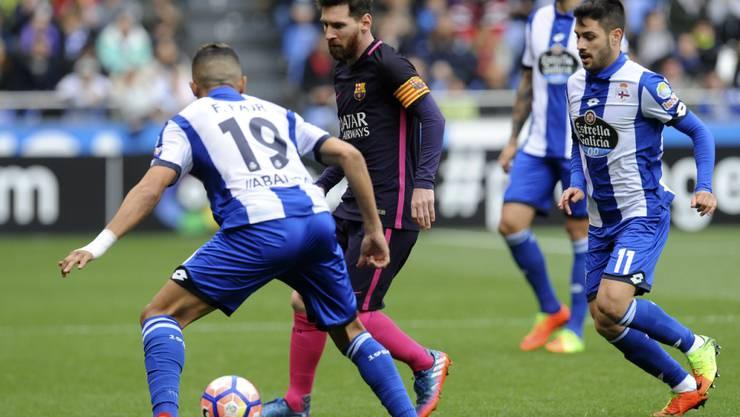 Lionel Messi und Co. fanden kein Rezept gegen La Coruña