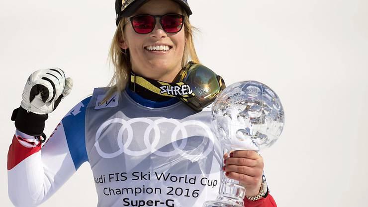 Weder bei der Kugelübergabe an Lara Gut noch bei der Würdigung der Skifirma war Lindsey Vonn zugegen.