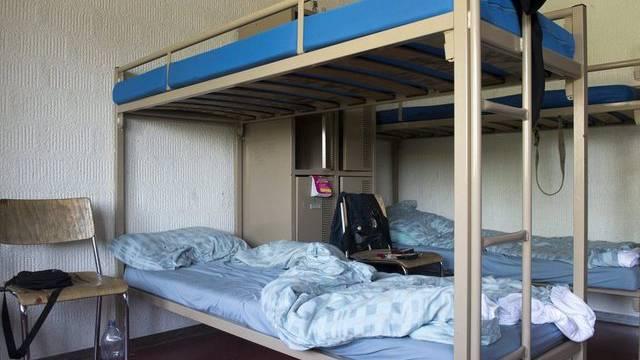 Blick in eine Unterkunft für Asylbewerber (Archiv)