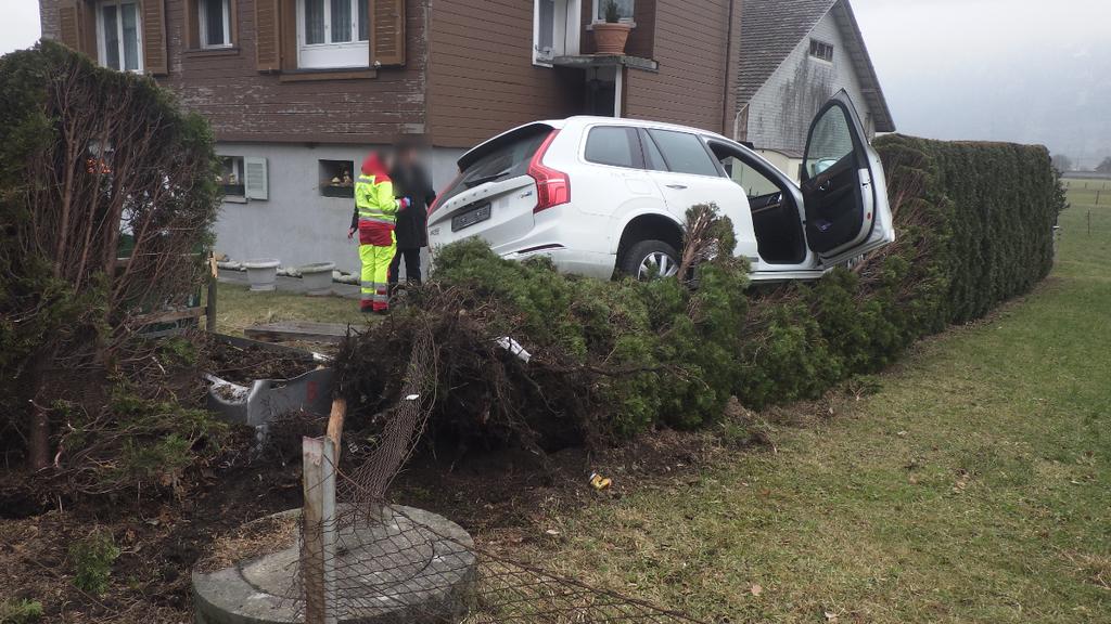 Altdorf: Auto landet auf Hecke