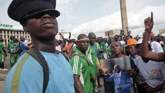 Anhänger von Laurent Gbagbo in Abidjan am Samstag